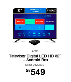 Televisor Digital LED HD 32¨ + Android Box AOC