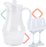 Vasos, copas y jarras