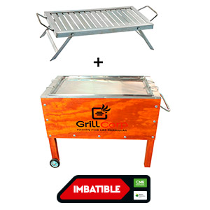 Caja china + Parrilla plegable